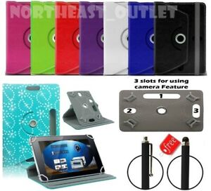 """360 Rotating Universal Case For EGL 10.1"""" Inch Android Tablet with Free Stylus"""