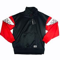 Nike Air Jordan Classic Wings Quarter Zip Jacket Mens Black / Red AO0406-011 NEW