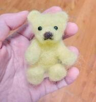 Needle Felted Animal little 1 teddy  bear Wool Art  mini Sculpture ooak gift -y
