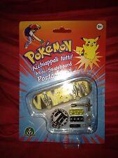 Pokemon Mini Skateboard Pikachu Portachiavi Nintendo Giochi Preziosi Nuovo