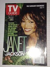 Tv Guide Magazine Janet jackson Dale Earnhardt March 10-16, 2001 042517nonrh
