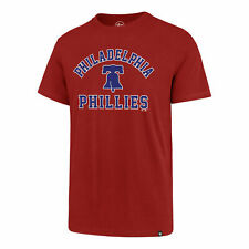 Philadelphia Phillies Men's '47 Brand Arch Super Rival T-Shirt - Red