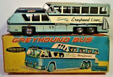 TIN FRICTION 1950'S/60'S GREYHOUND BUS W ORIGINAL BOX CRAGSTAN NOMURA JAPAN