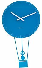 Nextime Flying Time Wall Clock Vintage Kitchen Retro Chic Blue