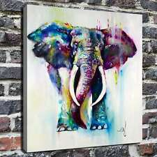 """24""""x28""""Color elephant Animals Painting HD Canvas Print Home Decor Room Wall Art"""