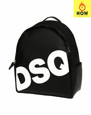 RRP €530 DSQUARED2 Backpack Large Matte PVC Leather Zip Closure Made in Italy