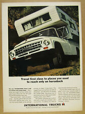 1964 IH International 1100 4x4 Pickup Truck Camper Body photo vintage print Ad