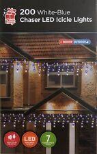 200 blanco y azul del color Chaser Carámbano luz LED Luz Interior Exterior Navidad