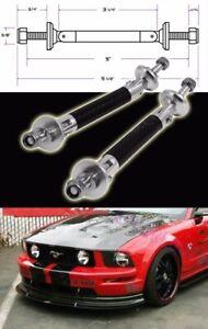 Black Carbon Bumper Lip Diffuser Struts Shock Rod Bar Support for Subaru Mazda