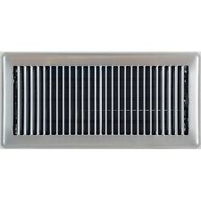 Satin Chrome Metal Louvered Ducted Heating Floor Vent Register Cover 150x350mm