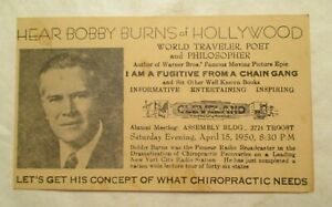 Bobby Burns of Hollywood Chiropractic needs Traveler Poet Philosopher Postcard
