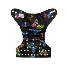 Alva Butterfly  Adjustable Reusable Baby Girl Cloth Diaper Pocket Nappy+1Insert
