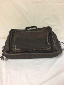 """Diesel Laptop Brown Bag 17""""Wx14""""H 5 Pockets Vintage"""