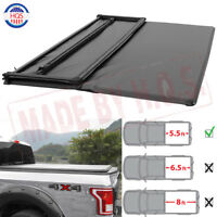 5.5FT Waterproof Soft Tri-Fold Truck Tonneau Bed Cover For 2009-2014 Ford F-150