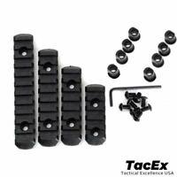 4 Pack M-LOK 5 7 9 11 Slot Polymer 4 Rail Set Picatinny Weaver Rail Section