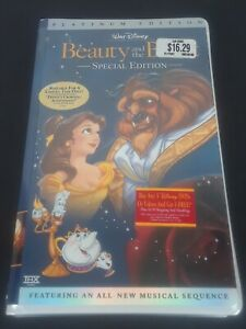 Beauty and the Beast (VHS, 2002, Platinum Edition) New Sealed