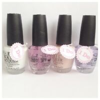 OPI French Manicure Nail Varnish Bridal Set Top Coat, Bubble Bath & Alpine Snow!
