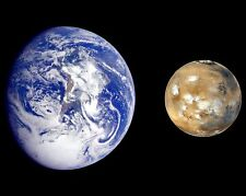 The Earth and Planet Mars NASA Space Astronomy Celestial Objects Photo Picture