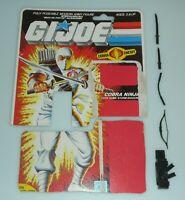 Lot 1984 GI Joe Storm Shadow v1 Complete Accessory Set w/ Grey File Card Back
