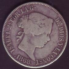 Devise 1 Escudo Isabelle II - Année 1868 - Madrid