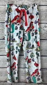 LITTLE MERMAID Plush Lounge Pants Sleepwear Disney Medium (8-10) Fuzzy