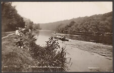 More details for maidenhead, berks. clevedon beach. boy watches rowing on the thames. 1913 rppc