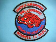 "VIETNAM WAR PATCH, US 120th AVIATION COMPANY "" THE RAZORBACKS """