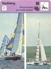FICHE CARD Monocoque Multicoque Catamaran Trimaran Alain Colas Voilier Yacht 70s