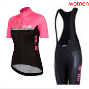 Women Cycling Short Sleeve Jersey Bib Shorts Set Bicycle Uniform Sports Clothing