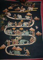 orig $499 NEPAL/TIBET SHAMAN handpainted THANGKA,  EARLY 1900S 16in