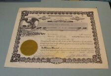 1968 Capitol Pipe & Nipple Manufacturing Co. Stock Certificate Detroit Michigan