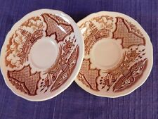 2 Staffordshire ALFRED MEAKIN Fair Winds SAUCER SET of TWO have more items AS-IS