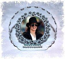 Michael Jackson Lunettes Verre Taillé Rond Cadre plaque unique édition limitée #1