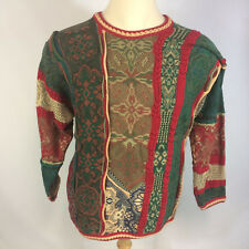Rare Vintage 80s 90s Coogi 3D Abstract Winter Christmas Ugly Sweater Australia L