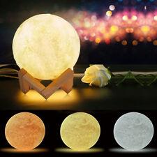 Lampada Luna 3D luce lunare diametro 15cm tre colori selezionabili con tocco tdc