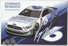 2019 RYAN NEWMAN WYNDHAM RESORTS NASCAR MONSTER ENERGY CUP SERIES POSTCARD