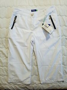 1 NWT DAILY SPORTS WOMEN'S CAPRIS, SIZE: 8, COLOR: WHITE (J72)