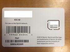 Sprint sim card UICC SIMGLW226R 4G LTE