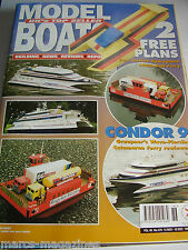 MODEL BOATS 1998 # 576 RUGELEY FERRIES CONDOR 9 HYDROPLANE & PUSH PULL FERRY
