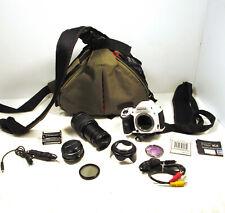 Pentax White Stormtrooper K-30 Digital Camera Lenses Case Cords Battery Filters