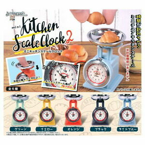 J Dream Capsule toys Gashapon Mini Kitchen Scale Clock Part 2 Full Set 5 pieces