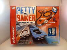 AW AUTO WORLD SRS281 16' RICHARD PETTY VS. BUDDY BAKER SLOT CAR RACE SET  1/EA