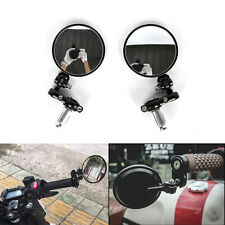 """MOTORCYCLE BLACK FOLDABLE BAR END REAR VIEW SIDE MIRRORS 7/8"""" FOR HONDA GROM MSX"""