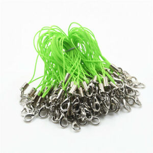 100pc 20 Color Lobster Clasp Cell Phone Lanyard Cords Strap Lariat Mobile DIY
