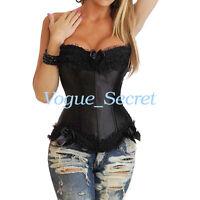 Bustier Corset Top Burlesque Basque Costume Moulin Rouge Fancy Corsets Plus Size