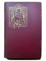 The Decameron by Giovanni Boccaccio: vol. I 1896 1st Ed gibbing & Co Antique ILL