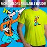 Disney Goofy Goof Classic Cartoon Funny Silly Dog Unisex Mens Tee Crew T-Shirt