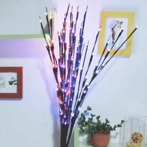 20LED Twigs Waterproof Bead Lights Branch Xmas Decor Twig Lamp Romantic Colorful
