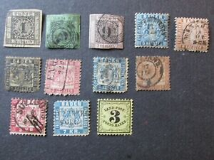 Collection of Old Baden Stamps High Values used