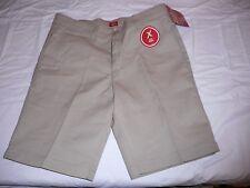 Girls Dickies Flat Front Shorts Khaki Size 16 Slim Fit NEW W TAGS
